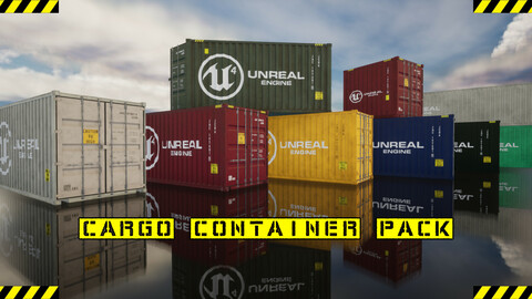 Cargo Container Pack  (Unreal Engine)