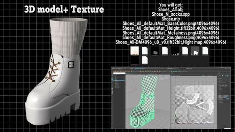 Stylish shoes / Pretty sneakers / Platform shoes / Fashion shoes 3D model
