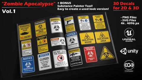 Zombie Apocalypse - Vol.1 - 30 decals