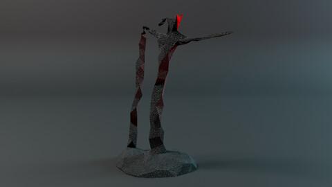 Geo Man Low-poly 3D model