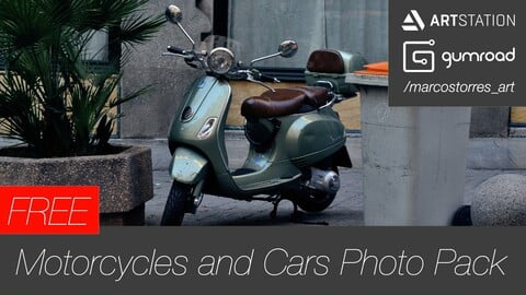 Motorcycles and Cars - FREE Photo Pack