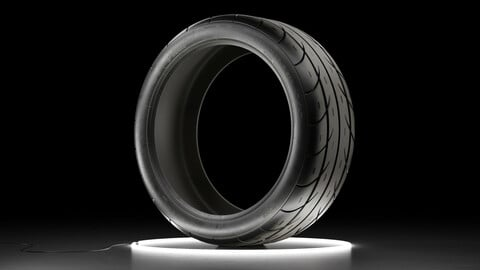 Car tire Mickey Thompson ET STREET SS 3D model