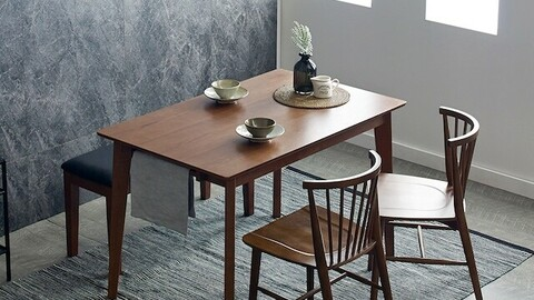Dorothy Modern Nordic Rubber Wood Solid Wood Dining Table Set