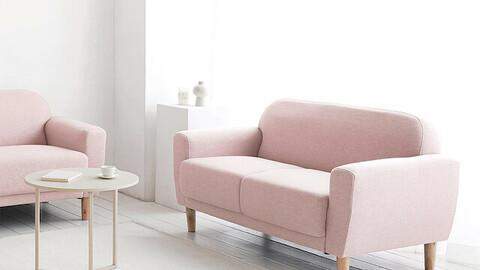 Nouveau 2 seater fabric sofa