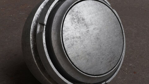 photorealistic old aluminum substance painter smart material