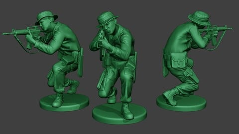 Modern Jungle Soldier Shoot crouched MJS1