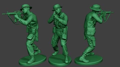 Modern Jungle Soldier Shoot Stand2 MJS1