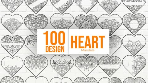 Mandala Hearts Valentine's Day Bundle