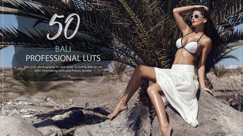 50 Bali LUTs and Presets Pack