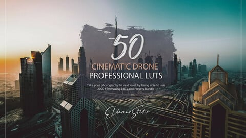 50 Cinematic Drone LUTs and Presets Pack