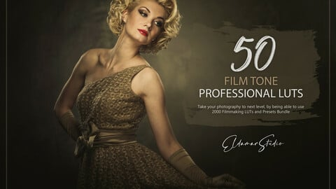50 Film Tone LUTs and Presets Pack