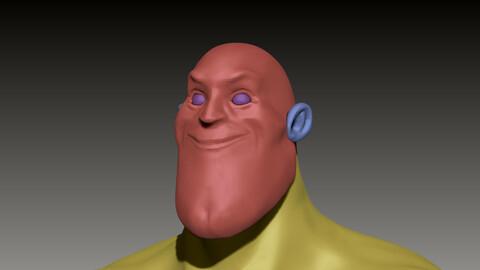 Stylized Basemesh Superhero Male