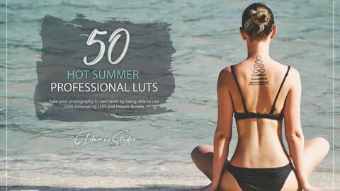 50 Hot Summer LUTs and Presets Pack