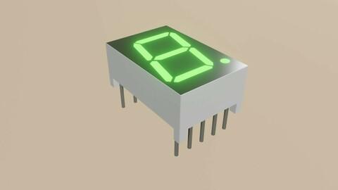 Display 7 segments - Electronics Parts Low-poly 3D model