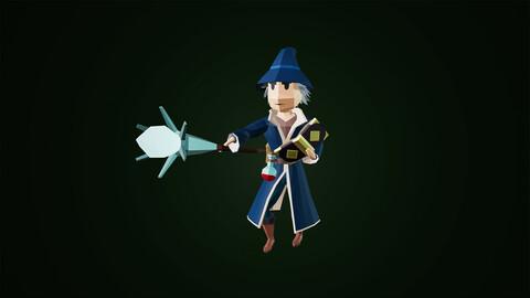 Low Poly Fantasy Wizard