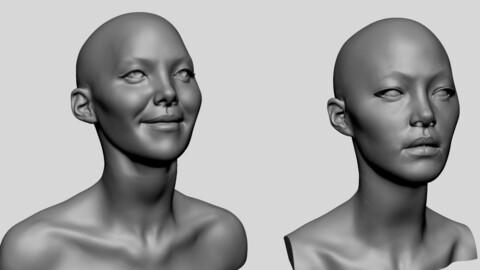 Female Heads for 3D Print