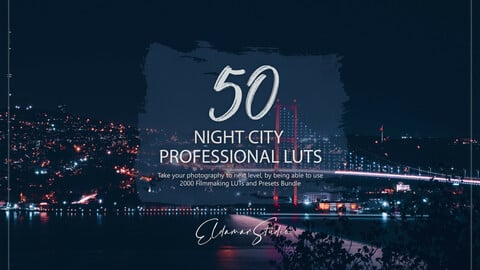 50 Night City LUTs and Presets Pack