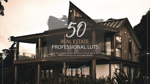 50 Real Estate LUTs and Presets Pack