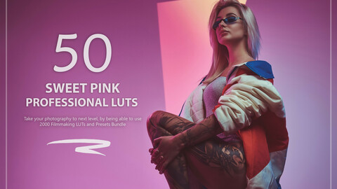 50 Sweet Pink LUTs and Presets Pack