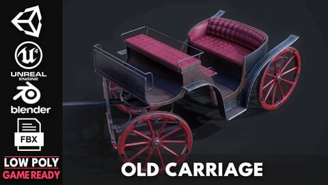 Old Carriage - Game Ready