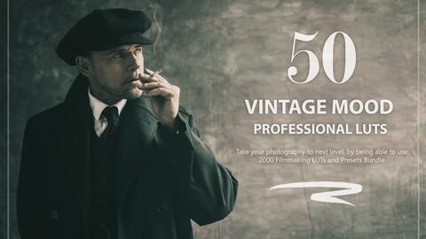 50 Vintage Mood LUTs and Presets Pack