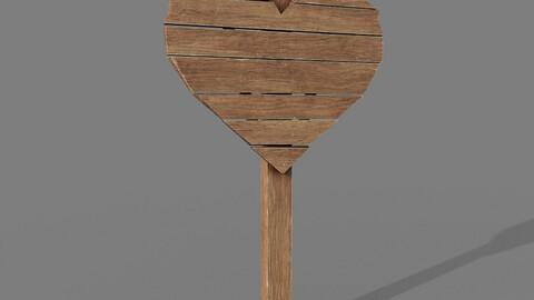 Signpost PBR Heart Shape