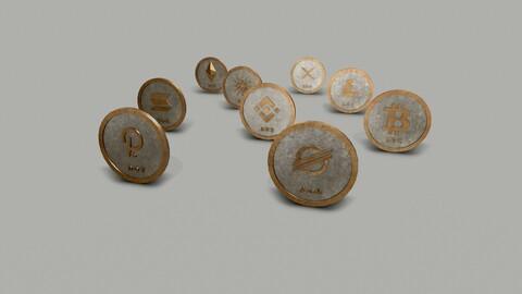 Crypto Coins Set PBR