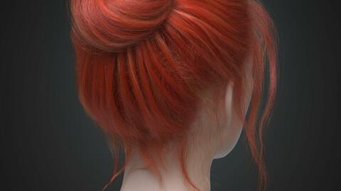 Female realistic hairstyle Onatrix Alembic Hair Groom Plugin