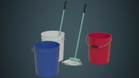 Bucket And Mop 1A