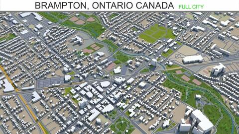 Brampton city Ontario 3d model Canada 40km