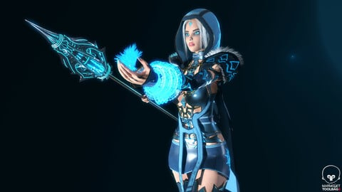 Frost Mage - Game Ready Low-poly 3D model