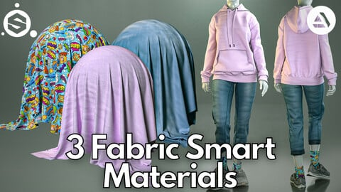 3 Fabric smart material : Hoodie & mom jeans