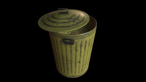 Old Yellow Trashcan