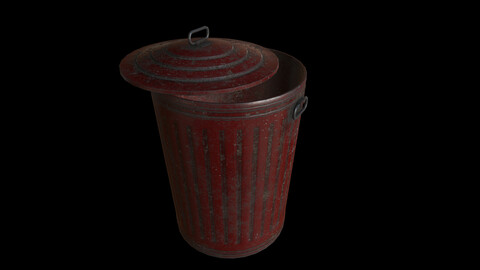 Old Red Trashcan