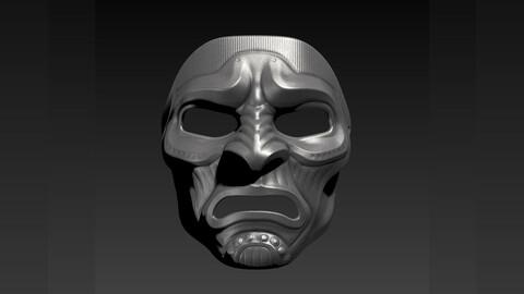 Samurai Mask - 3D printing