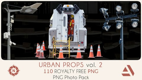PNG Photo Pack: Urban Props volume 2