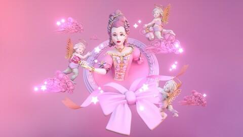 "mini-series ""Everyone is a treasure"" pink"