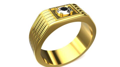 Gents Ring Gold 3D print model