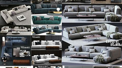 20 sofas 3d - ue4