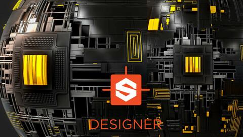 Futuristic Wall Panel - Substance Designer