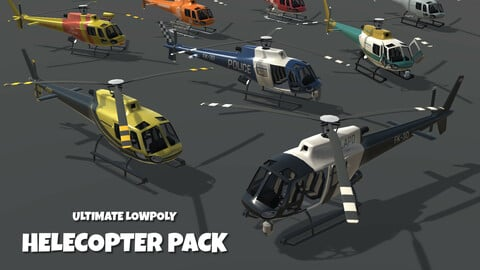 Ultimate Low Poly Helicopter Pack
