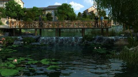 Villa Resort - Lake Bridge water 01