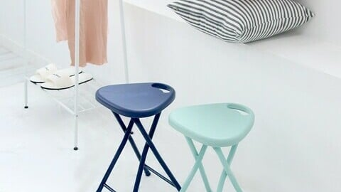 Daily folding simple chair stool