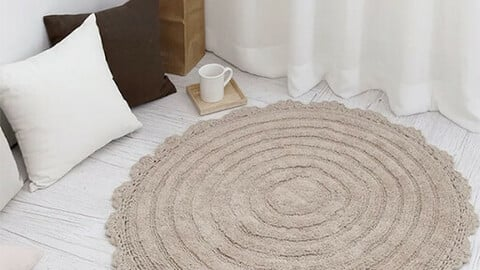 Lace Round Cotton Rug
