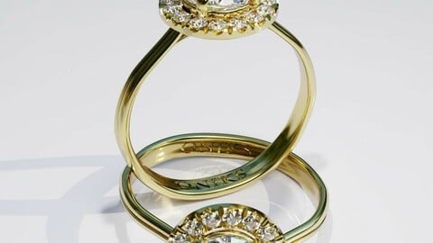 Daimond ring 3D print model
