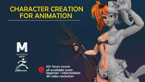 Creación de Personajes 3D para Animación / 3D Character Creation for Animation