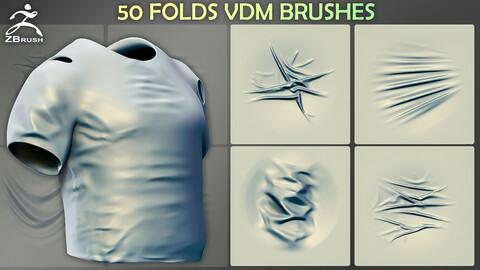50 Folds VDM Brushes for ZBrush