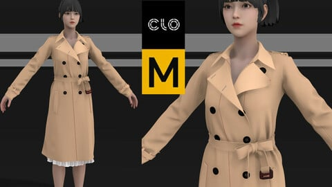 Double Breasted Coat Marvelous Designer project