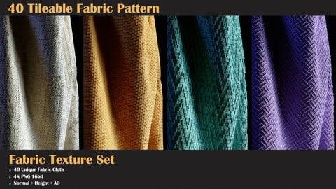40 Tileable Fabric Pattern