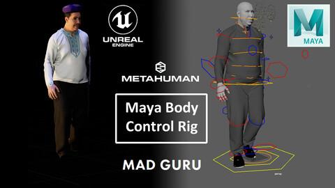 Metahuman Body Control Rig Python Sript